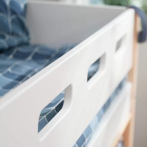 Lit surélevé 200x90cm échelle inclinée NOR Flexa chêne-blanc