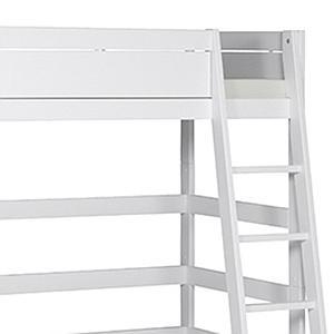 Lit surélevé 90x200cm échelle inclinée Lifetime blanc