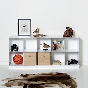 Meuble-banquette 174x78cm WOOD Oliver Furniture blanc