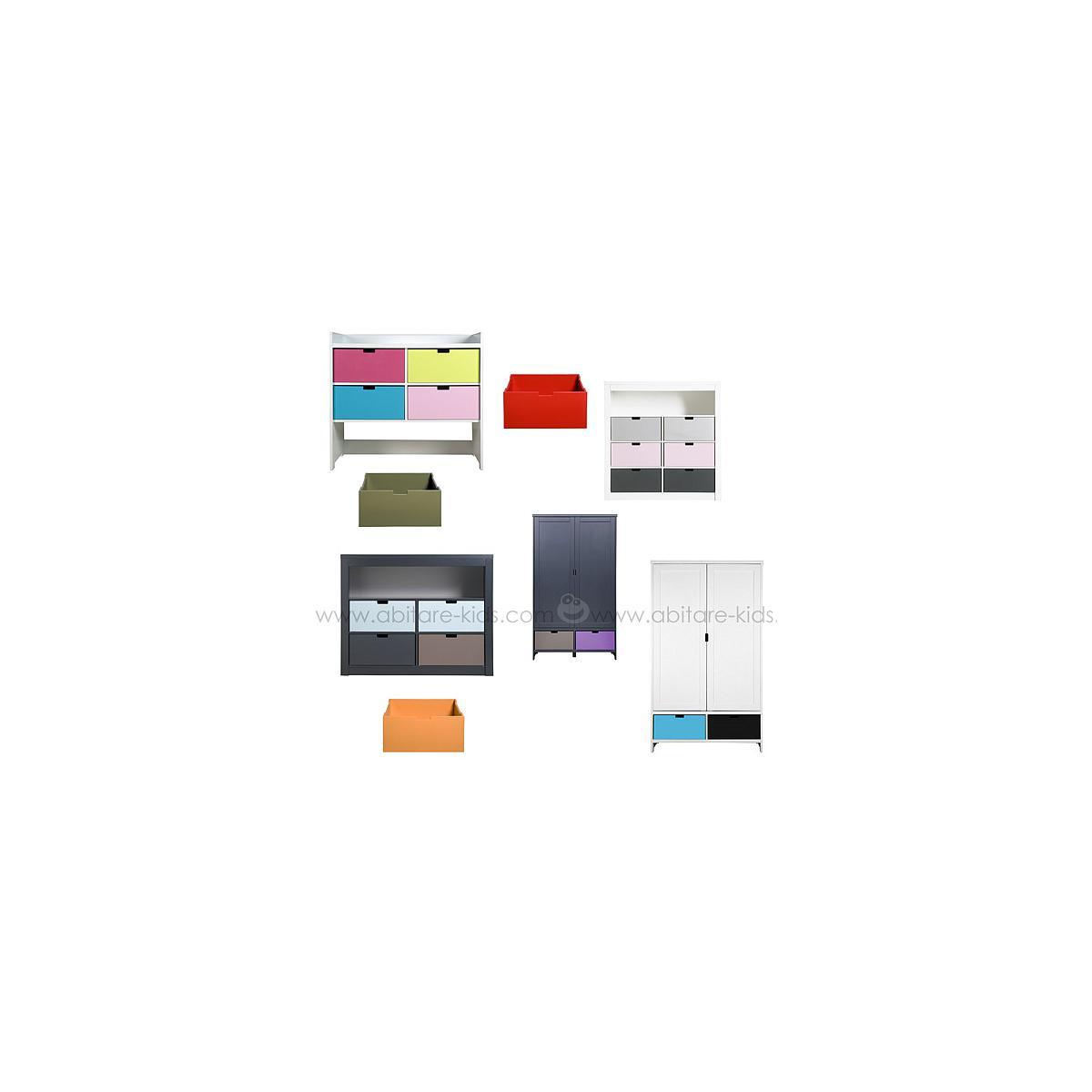 MIX & MATCH by Bopita Tiroir pour commode, armoire et parc Red