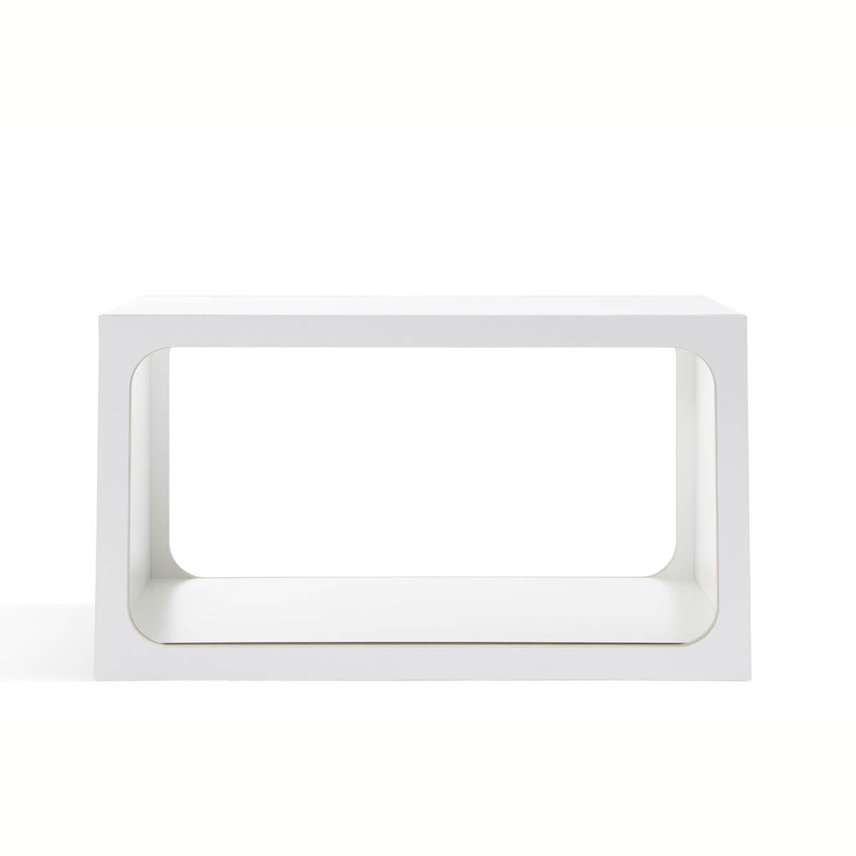 Module d'étagères BOXIT Mueller blanc - bord en bouleau