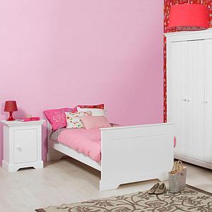 NARBONNE by Bopita Lit 90x200 cm blanc avec tête de lit haute