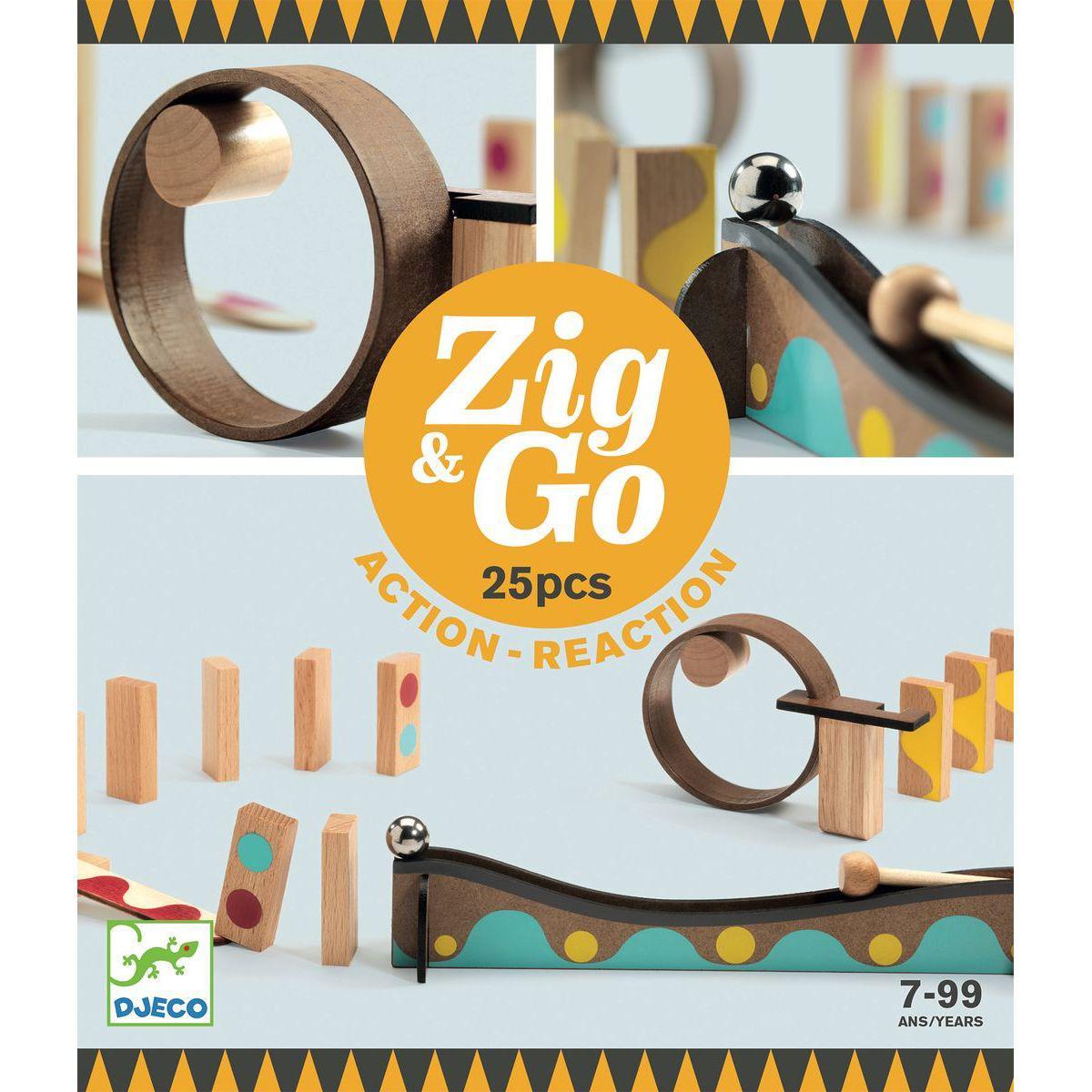 Parcours de domino 25pces ZIG & GO Djeco