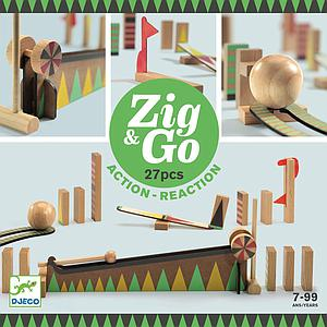 Parcours de domino 27pces ZIG & GO Djeco