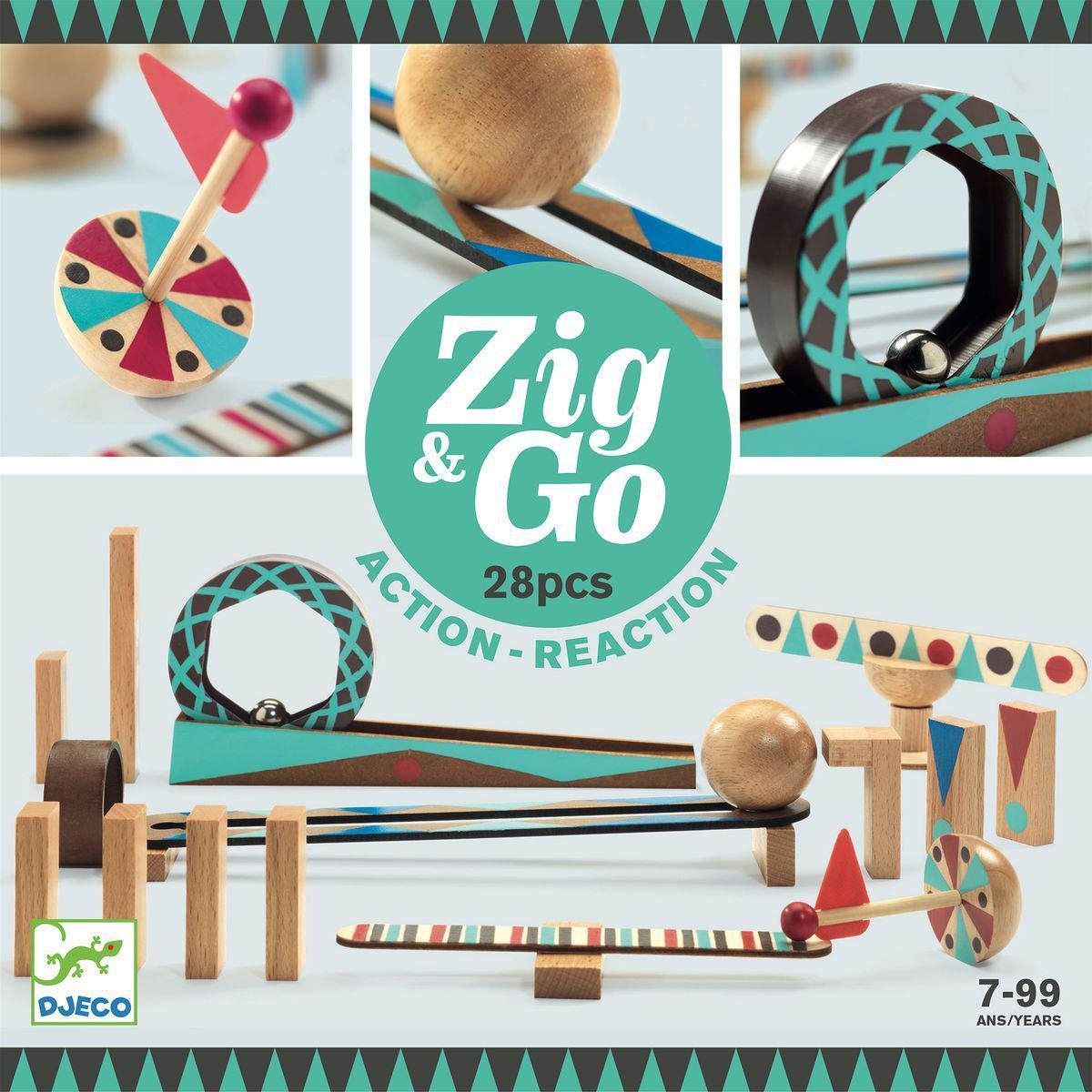 Parcours de domino 28pces ZIG & GO Djeco