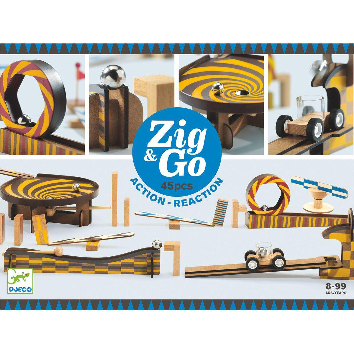 Parcours de domino 45pces ZIG & GO Djeco