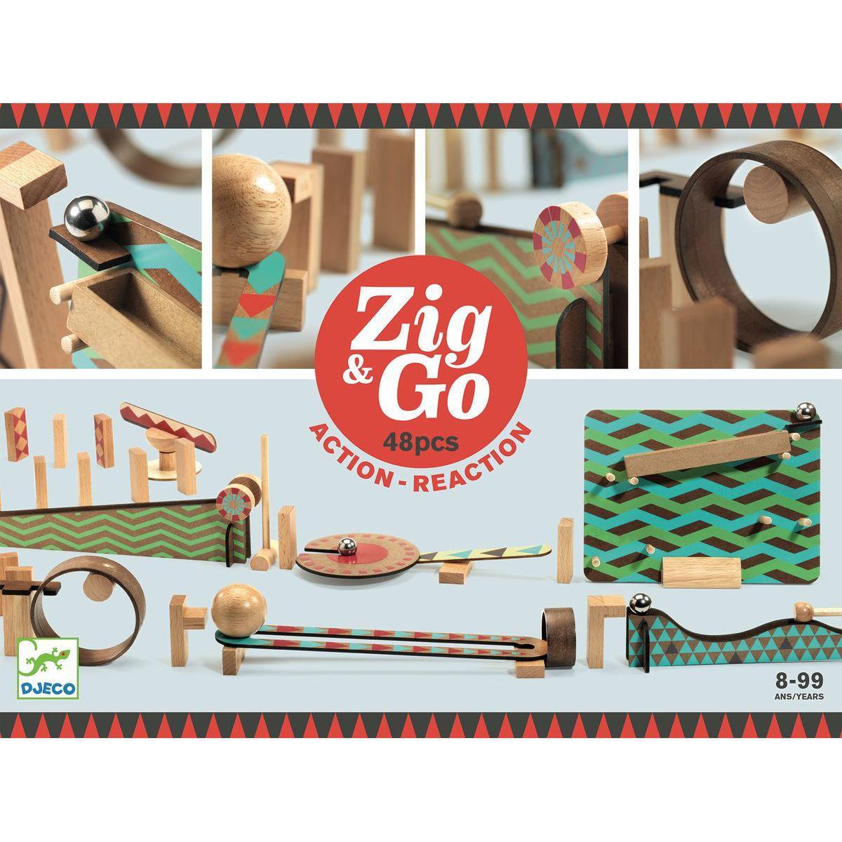 Parcours de domino 48pces ZIG & GO Djeco
