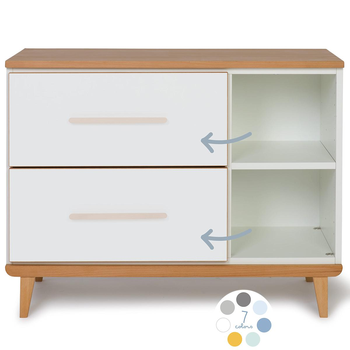 Petit meuble 2 tiroirs hors façades NADO By A.K.