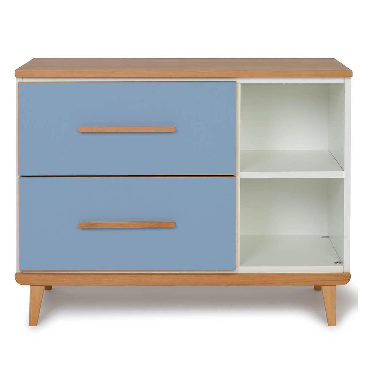 Petit meuble 2 tiroirs NADO By A.K. capri blue