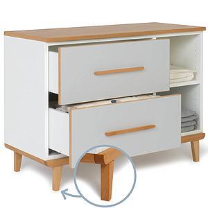 Petit meuble 2 tiroirs NADO By A.K. manhattan grey
