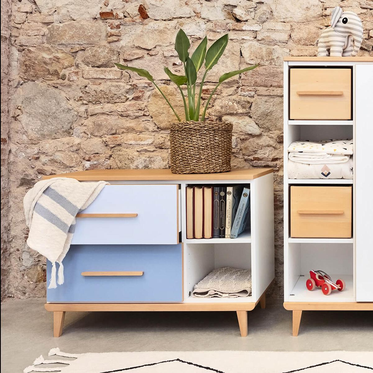 Petit meuble 2 tiroirs NADO By A.K. mint