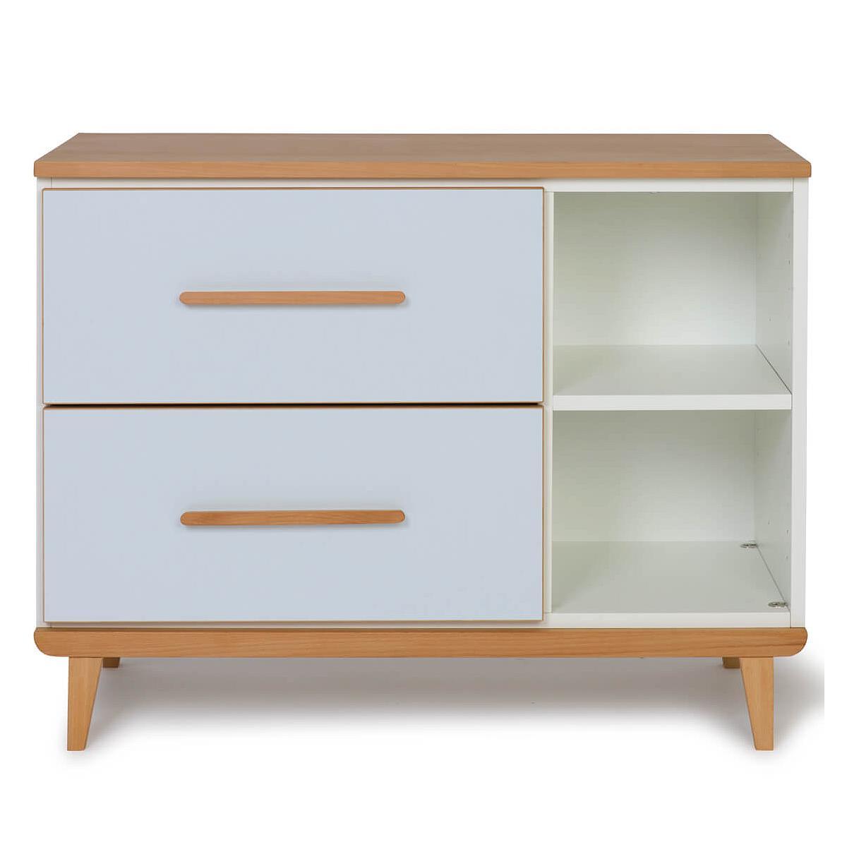 Petit meuble 2 tiroirs NADO By A.K. sky blue