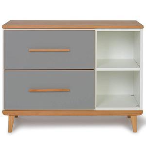 Petit meuble 2 tiroirs NADO By A.K. slate grey