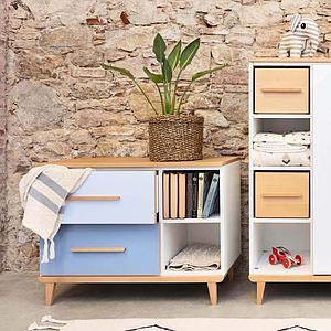 Petit meuble 2 tiroirs NADO By A.K. white