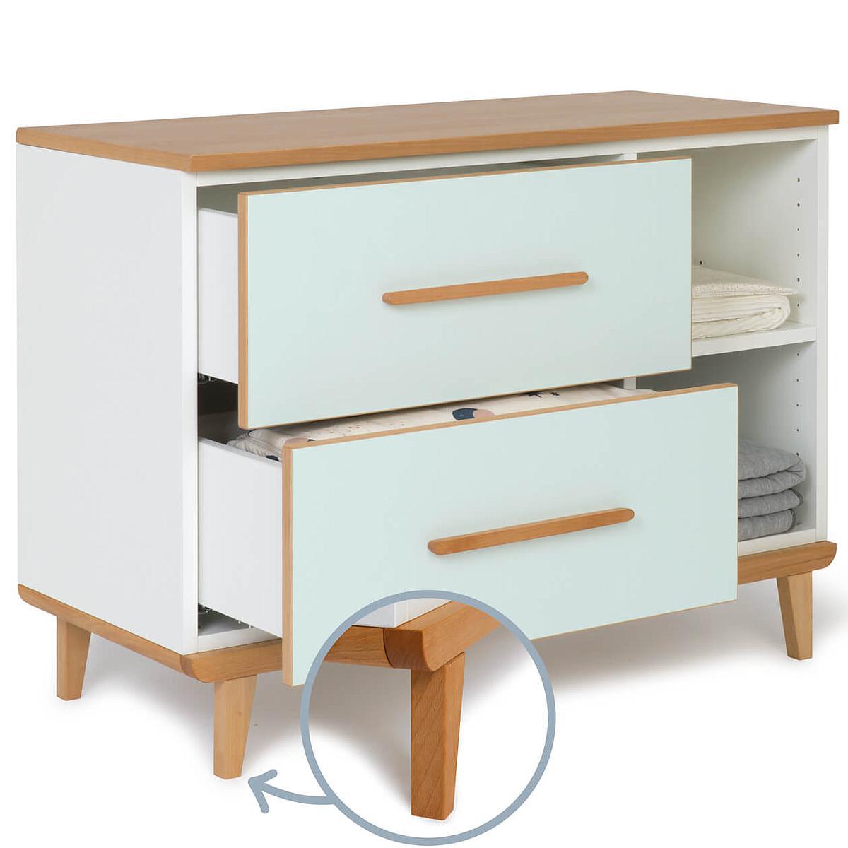 Petit meuble 2 tiroirs NADO mint