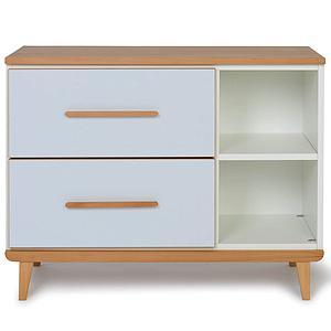 Petit meuble 2 tiroirs NADO sky blue