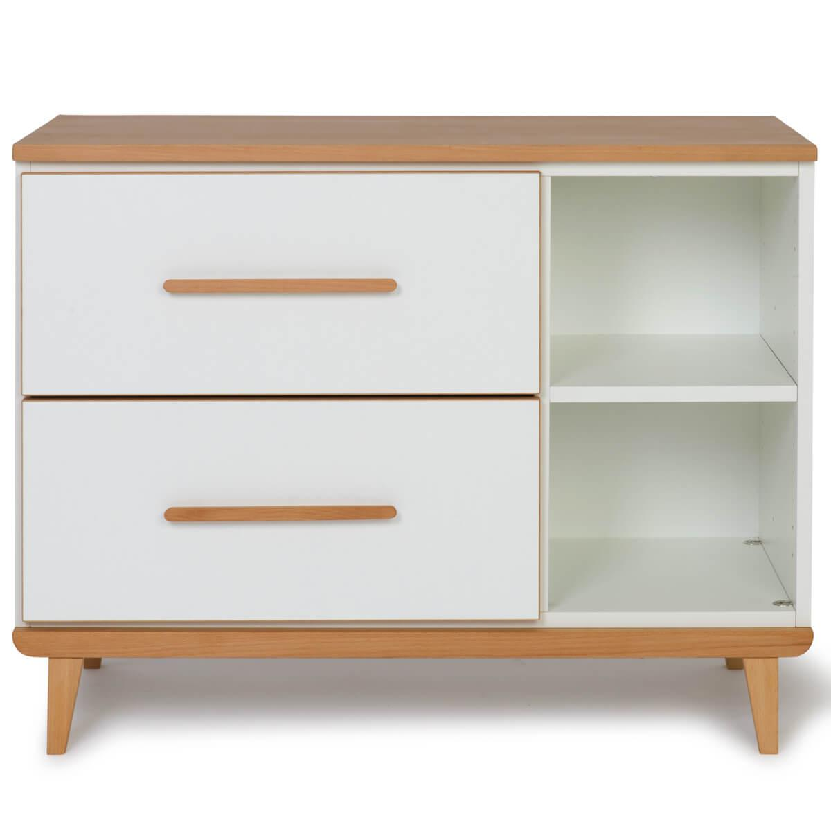 Petit meuble 2 tiroirs NADO white