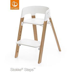 Pieds Stokke Chêne Naturel Haute Chaise Steps g7f6yb
