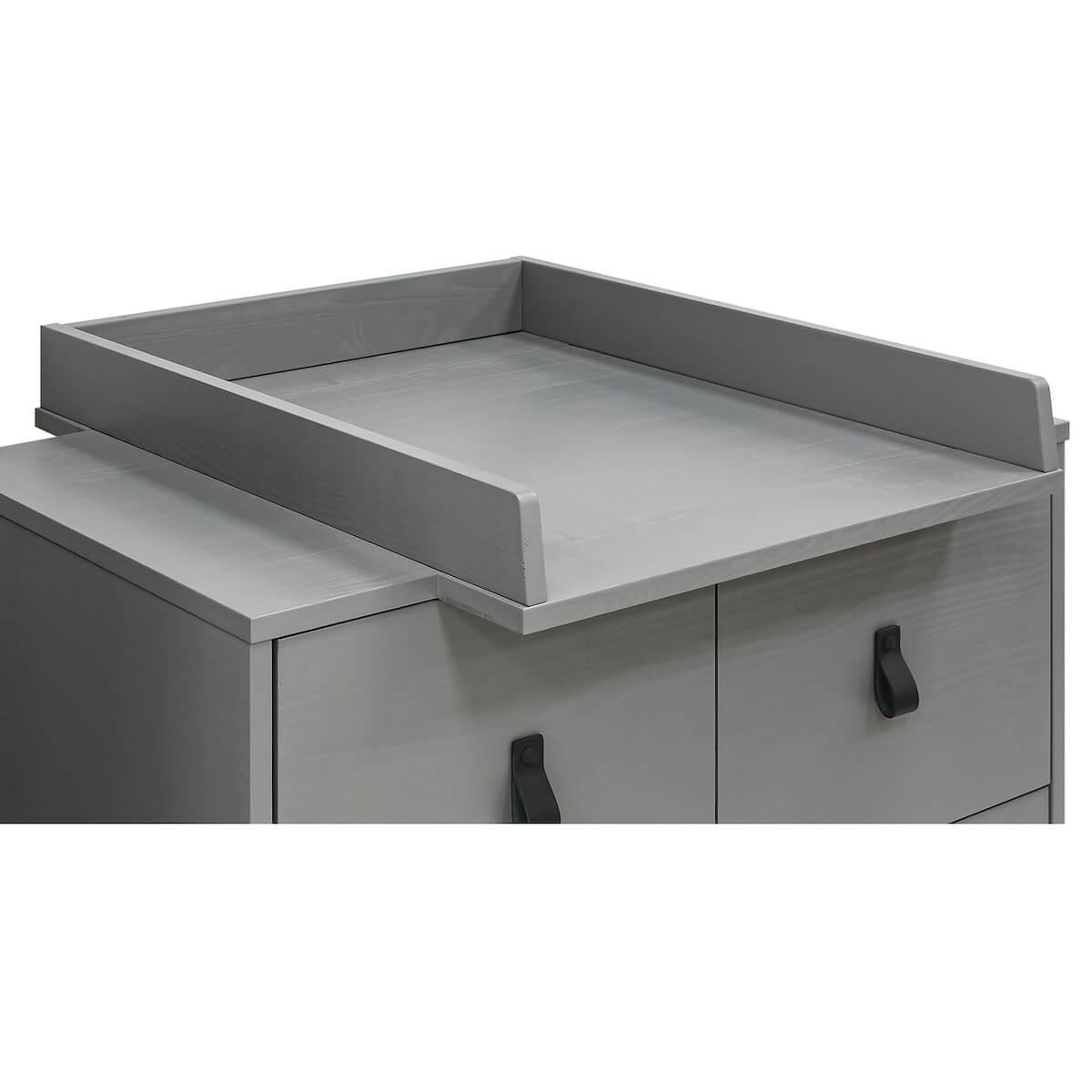 Plan à langer MILO Bopita Steel Grey
