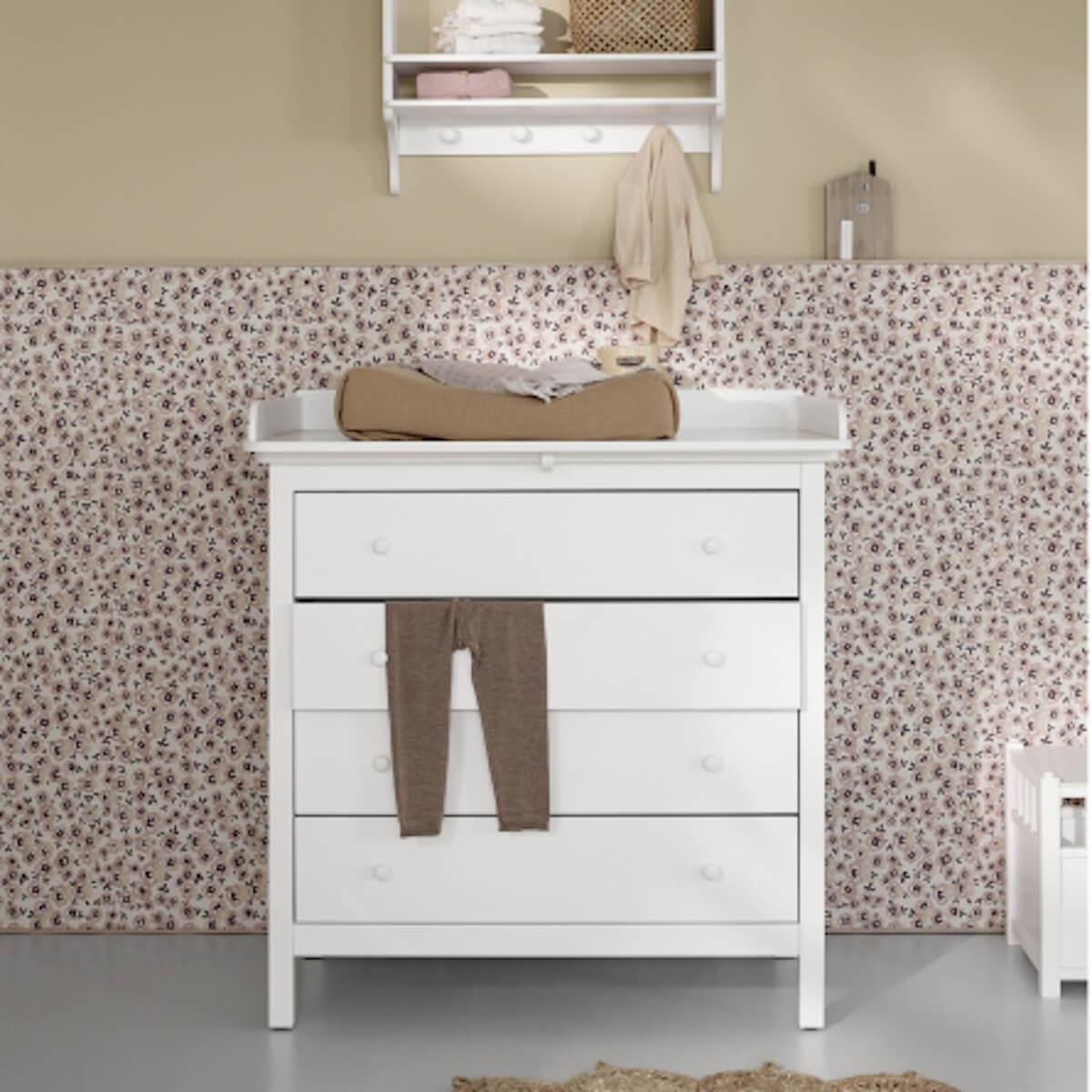 Plan à langer SEASIDE/WOOD Oliver Furniture blanc