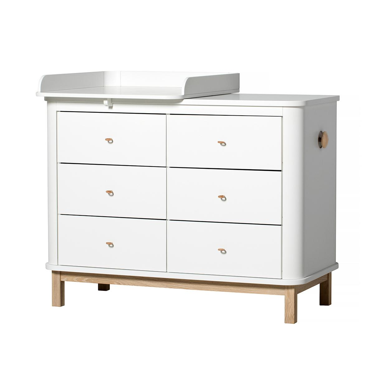 Plan à langer small WOOD Oliver Furniture blanc