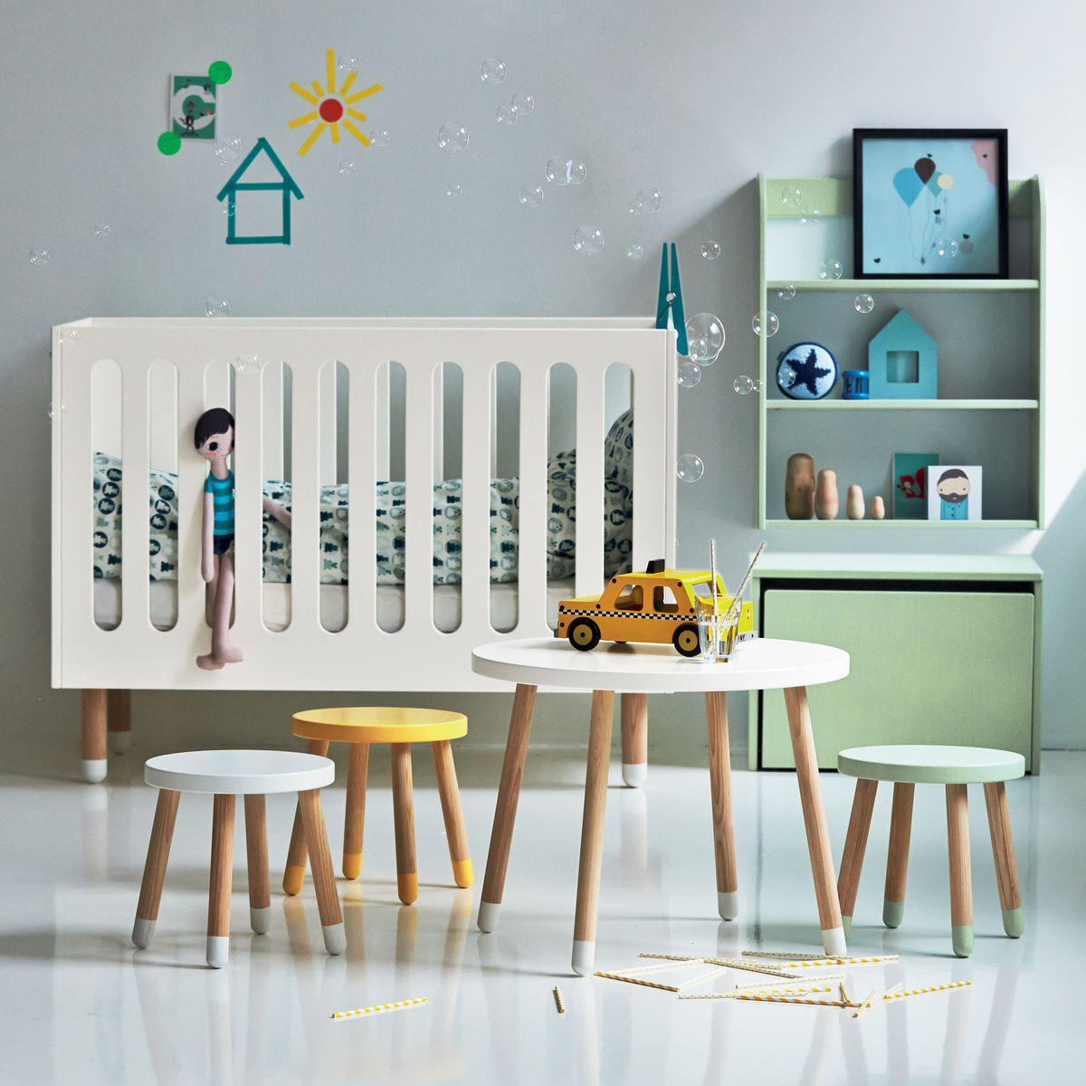PLAY by Flexa Lit bébé à barreaux 60x120 cm Blanc