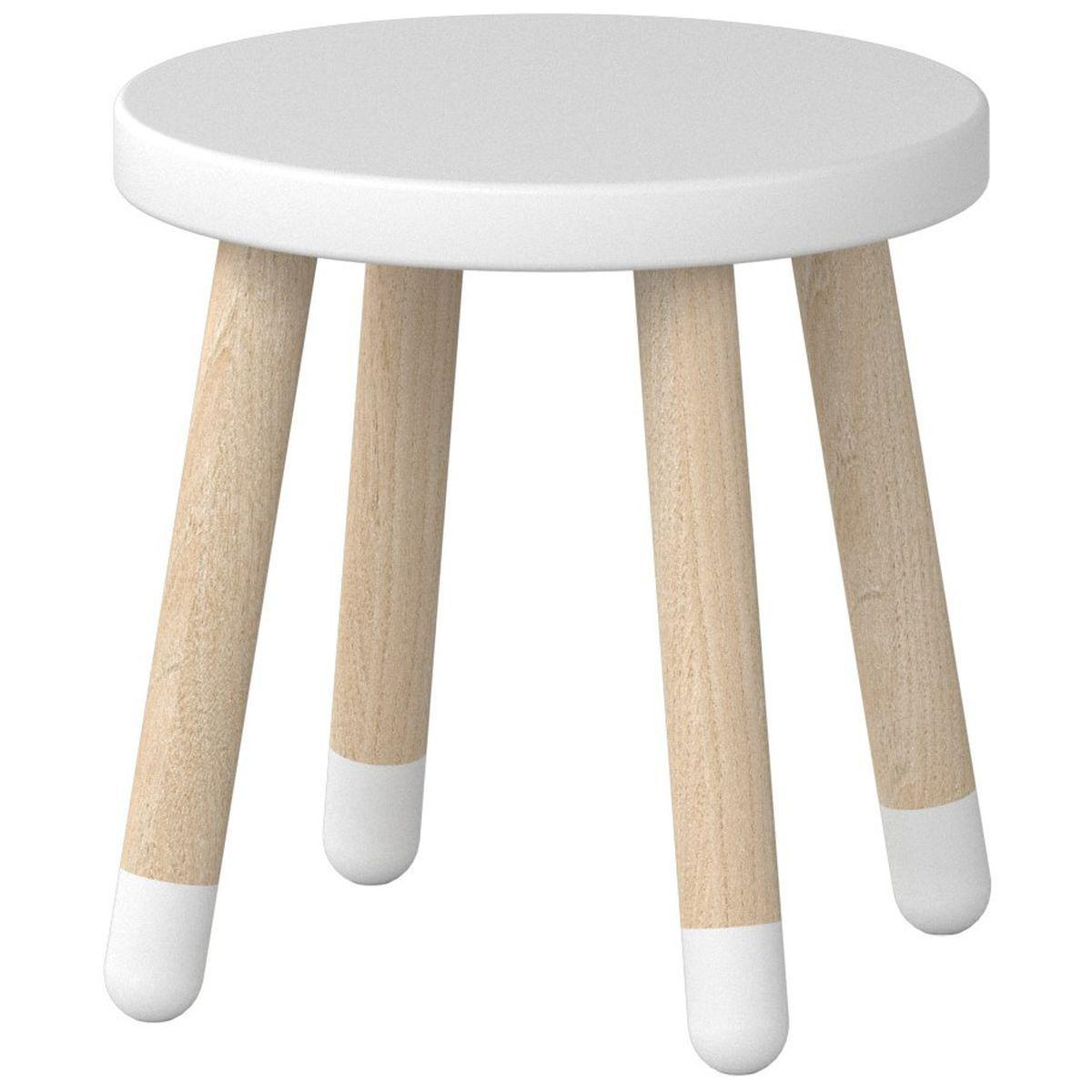 PLAY by Flexa Petit tabouret enfant 30 cm Blanc