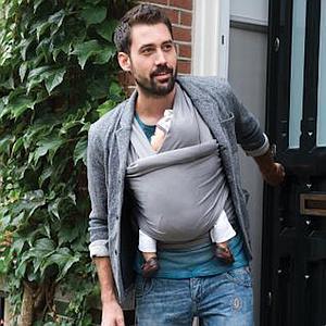 Porte bébé écharpe TRICOT-SLEN ORGANIC Babylonia blue jeans