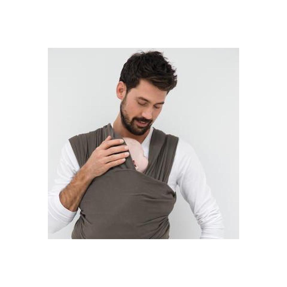 Porte bébé écharpe TRICOT-SLEN ORGANIC Babylonia dark grey