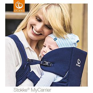 Porte-bébé frontal MYCARRIER Stokke bleu profond