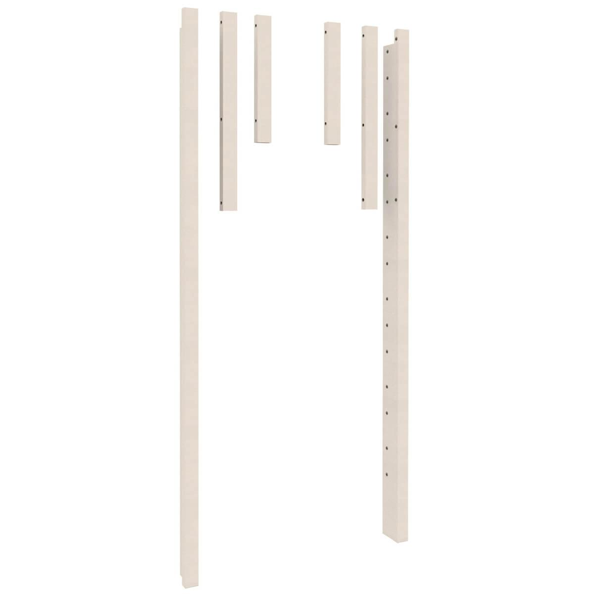 Poteau d'angle twin-over-full 2pcs DESTYLE Debreuyn blanc