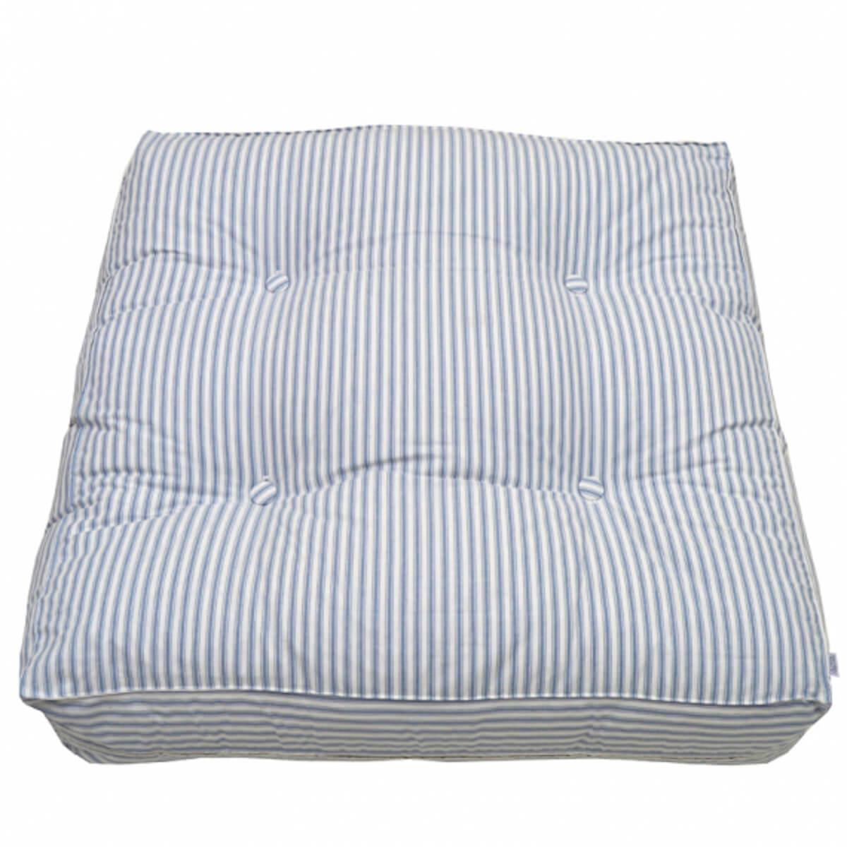 Pouf Oliver Furniture Blue striped