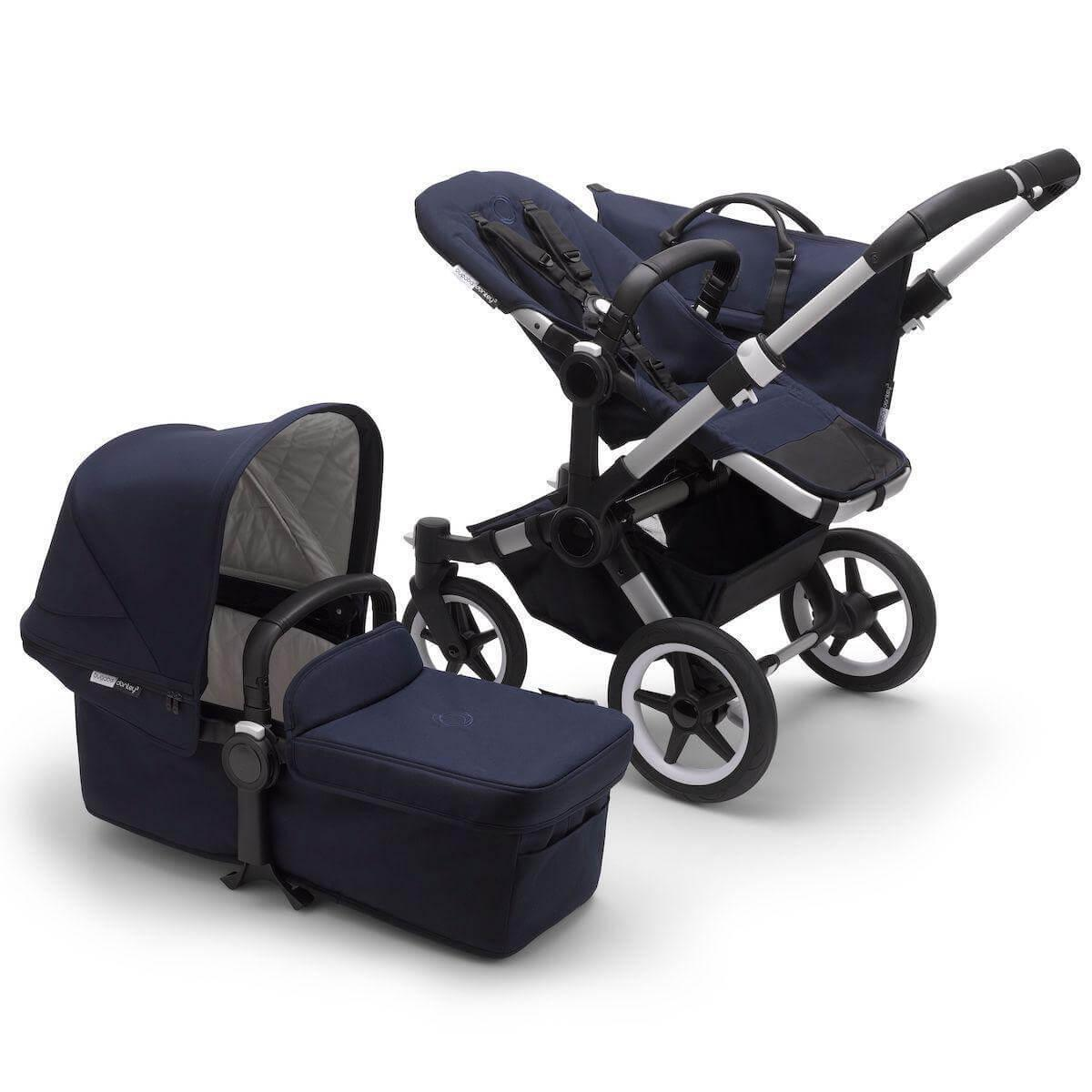Poussette complète Mono Bugaboo Donkey3 Classic alu-dark navy