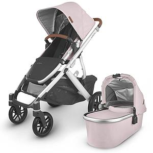 Poussette complète VISTA V2 Uppababy Alice dusty pink-silver-saddle leather