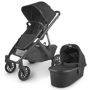 Poussette complète VISTA V2 Uppababy Jake black mat carbon-noir-saddle leather black