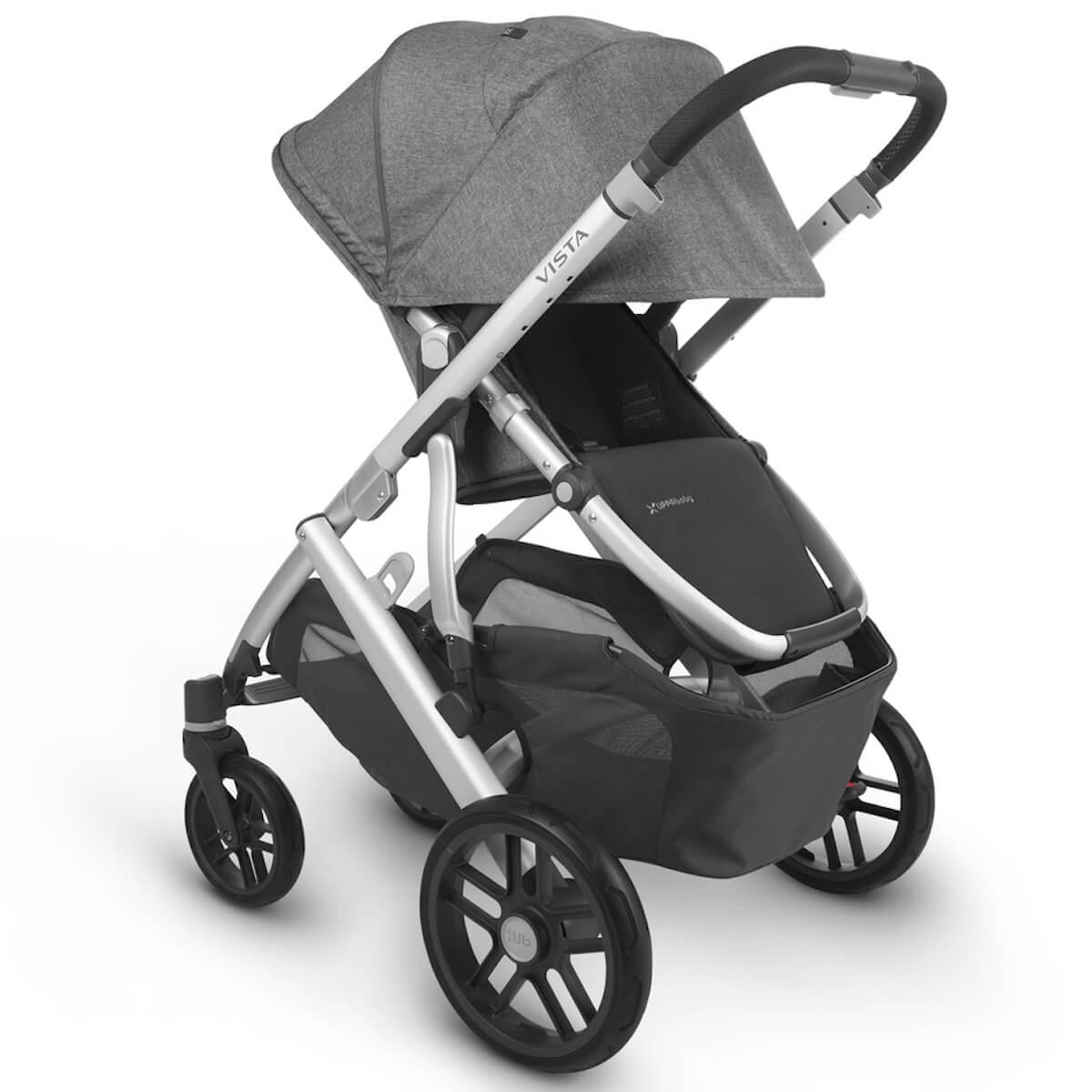 Poussette complète VISTA V2 Uppababy Jordan antraciet melée-silver-saddle leather black
