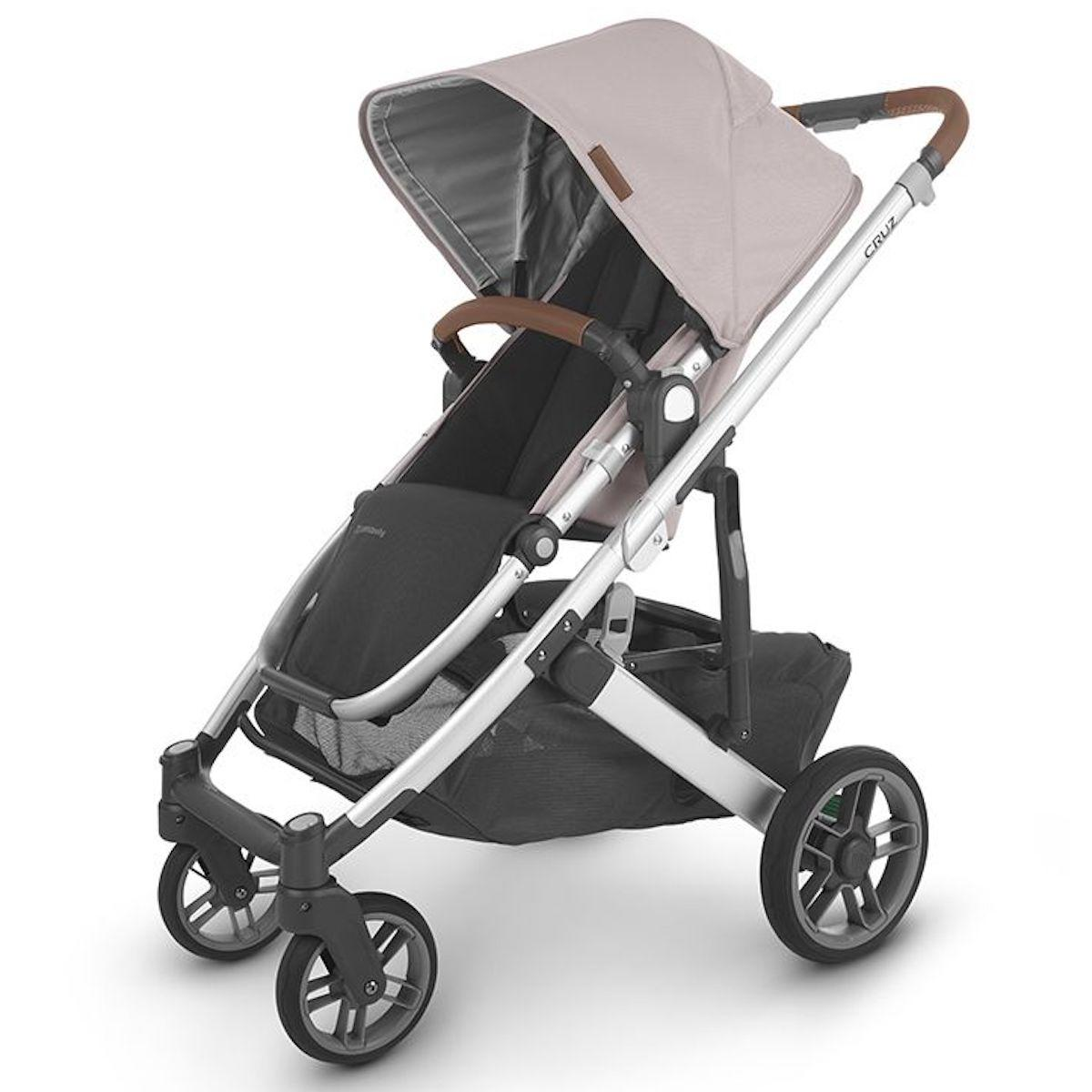 Poussette CRUZ V2 Uppababy Alice dusty pink-silver-saddle leather