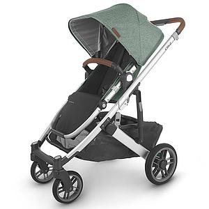 Poussette CRUZ V2 Uppababy Emmett green melée-silver-saddle leather