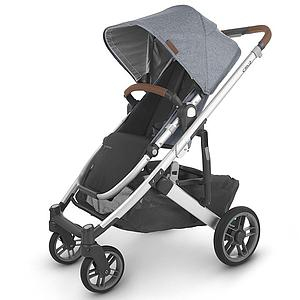 Poussette CRUZ V2 Uppababy Gregory bluegrey melée-silver-saddle leather