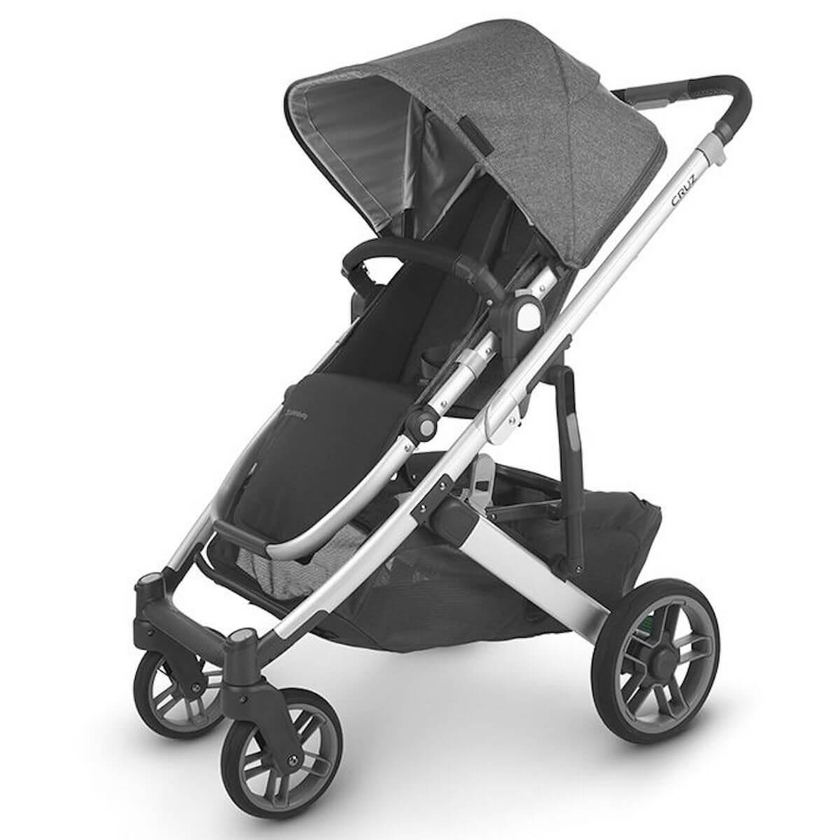 Poussette CRUZ V2 Uppababy Jordan antraciet melée-silver-saddle leather