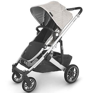 Poussette CRUZ V2 Uppababy Sierra dune knit-silver-saddle leather black