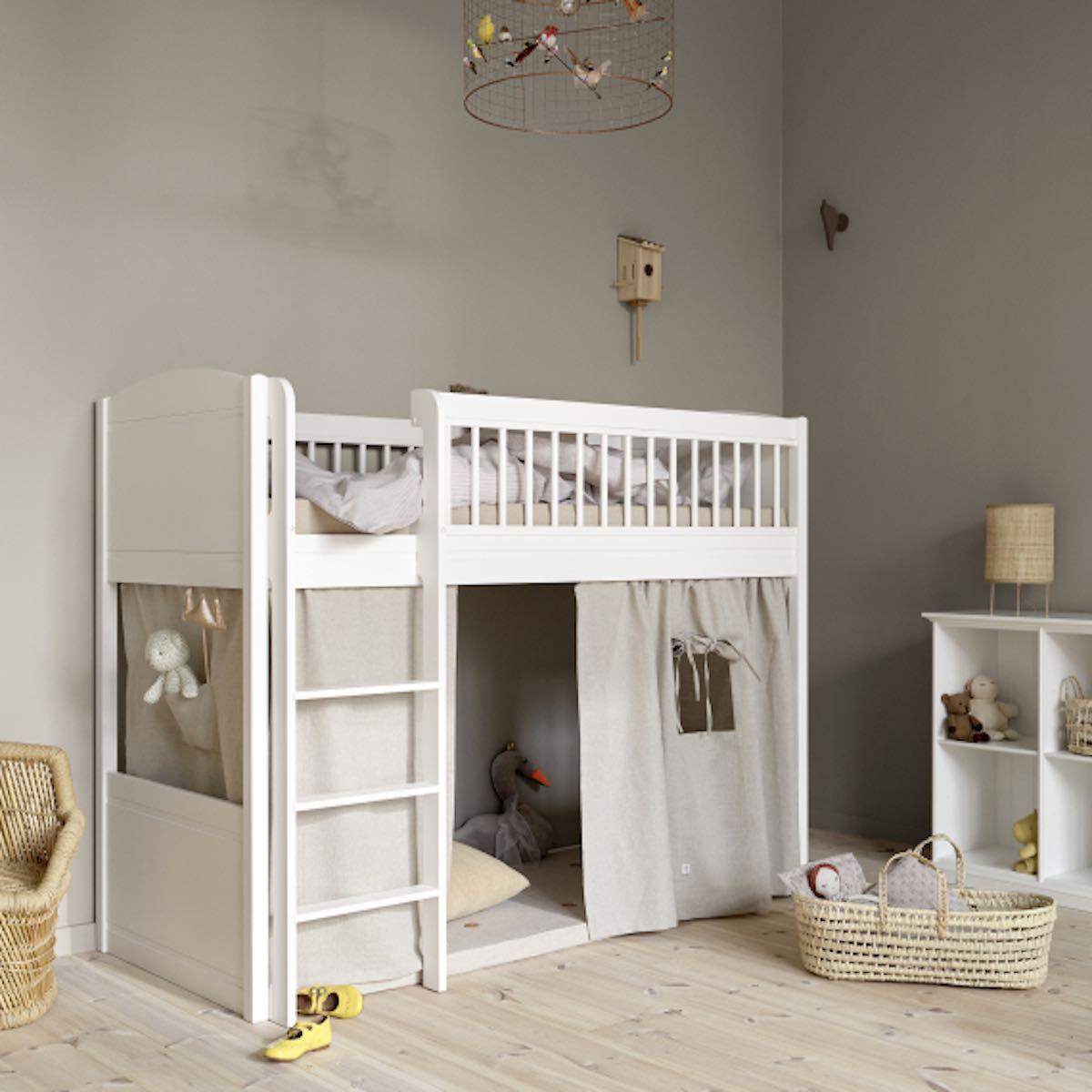 Rideau de lit LILLE + Oliver Furniture gris