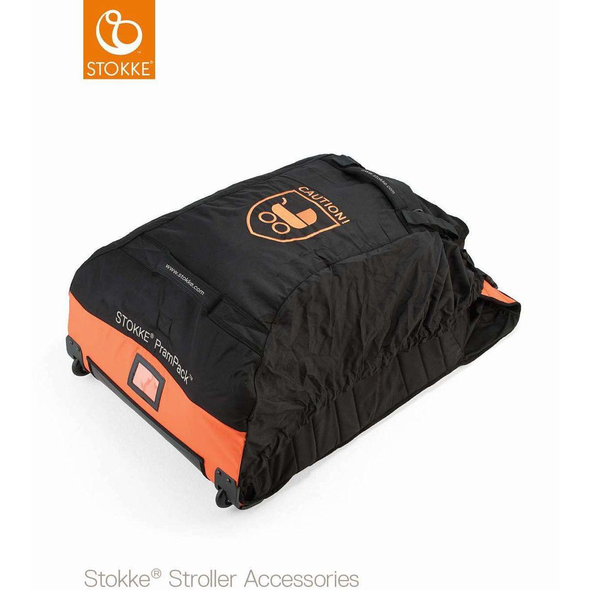Sac transport poussette PRAMPACK Stokke orange-noir