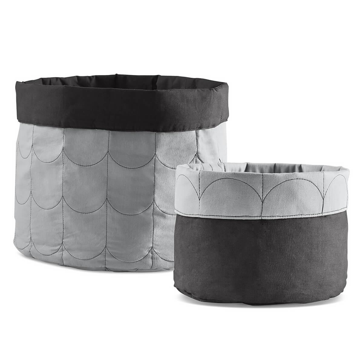 Set paniers rangements ROOM COLLECTION Flexa light-dark dusty grey