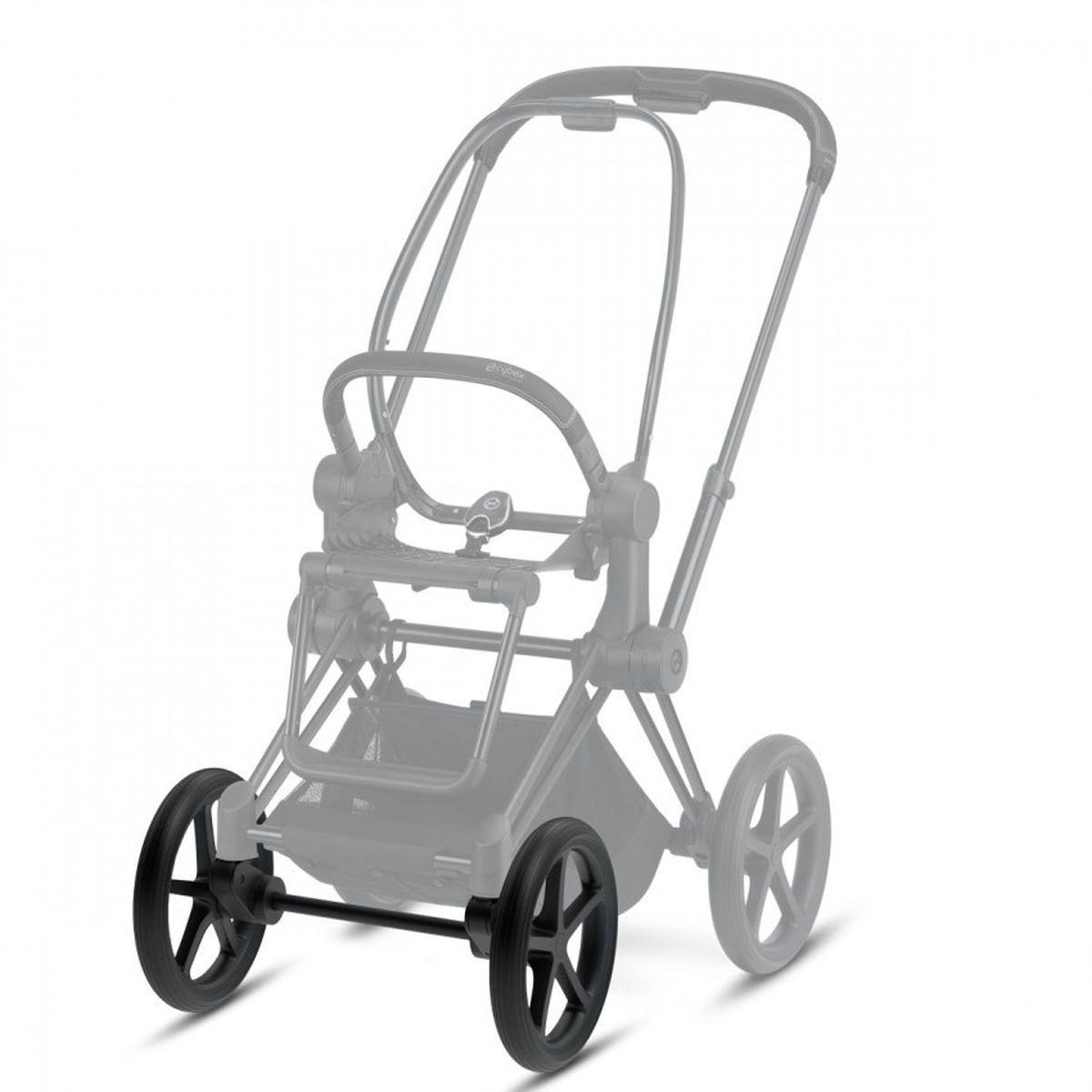 Set roues avant terrain difficile PRIAM Cybex matt black-black