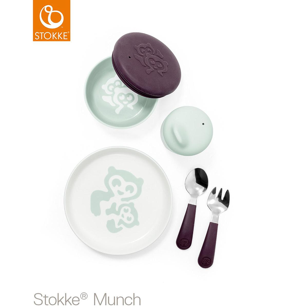 Set vaisselle everyday MUNCH Stokke mint