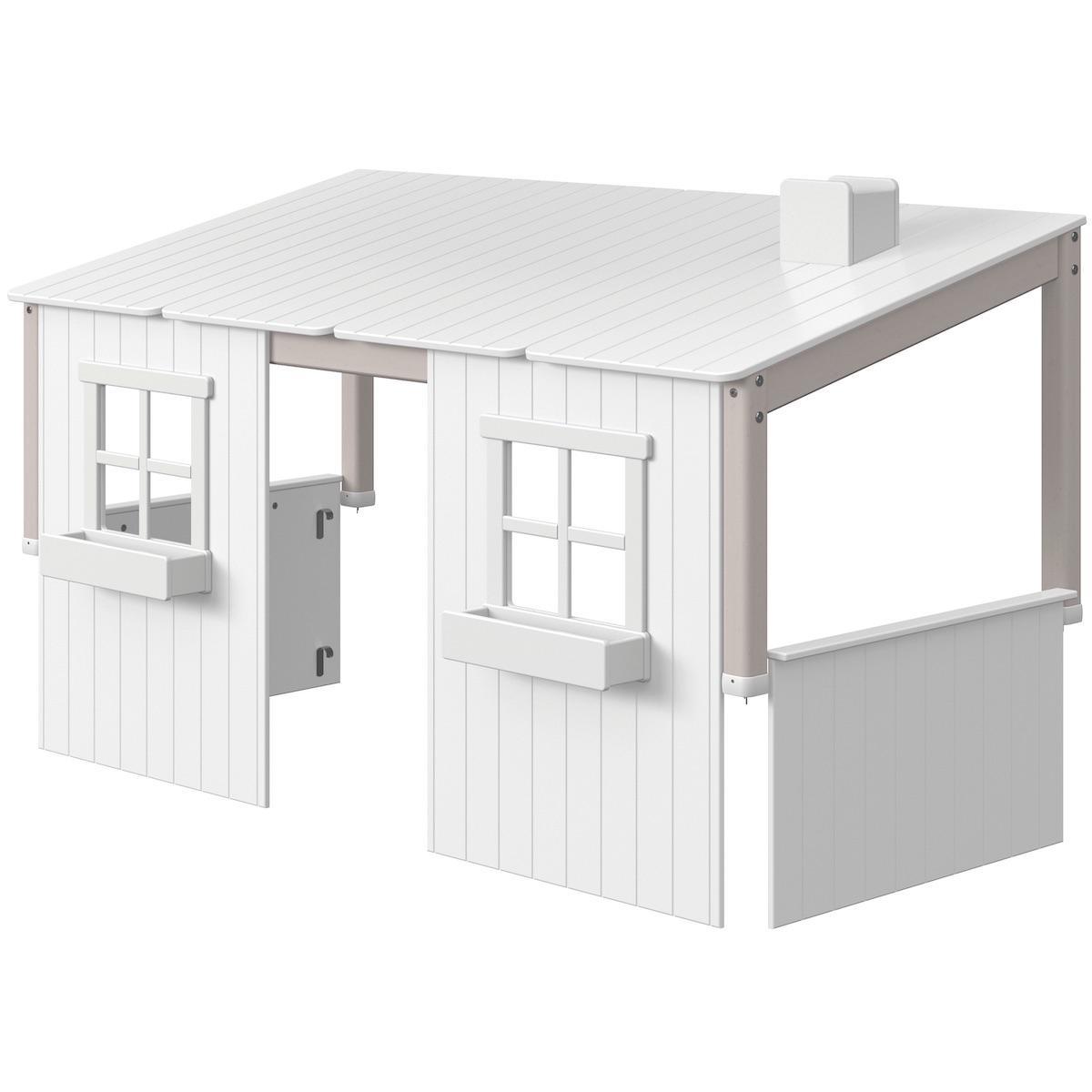 Structure toit lit cabane 200cm 1/1 PLAY HOUSE CLASSIC Flexa grey wash