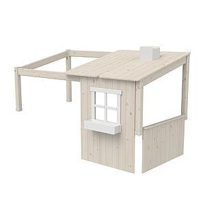 Structure toit lit cabane 200cm 1/2 PLAY HOUSE CLASSIC Flexa blanchi-blanc