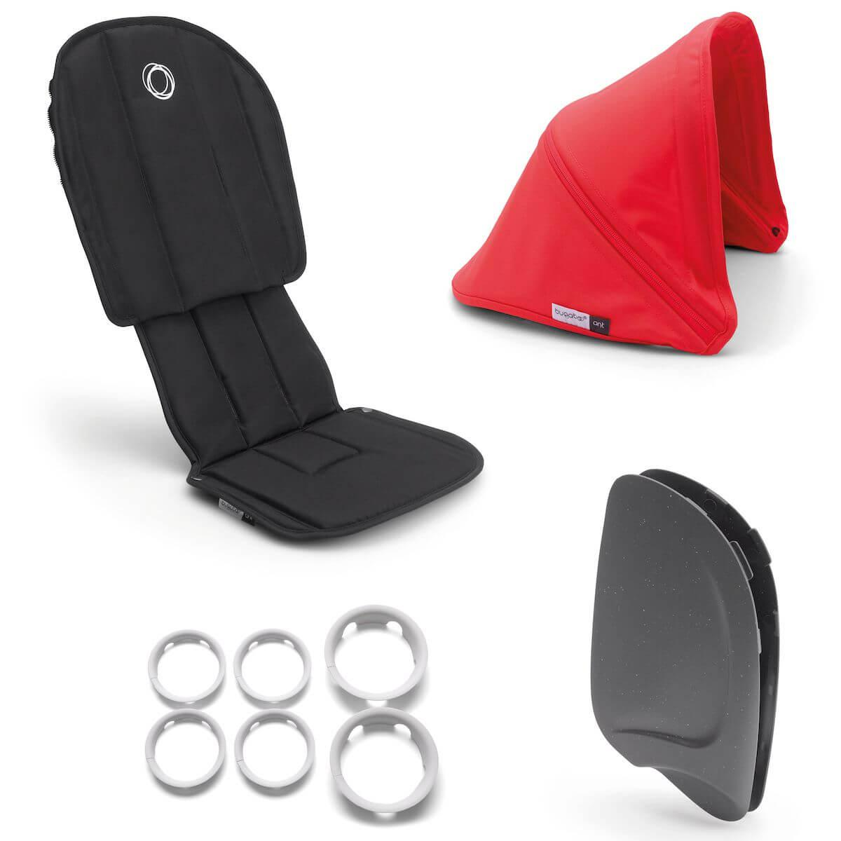 Style set complet ANT Bugaboo black-neon red