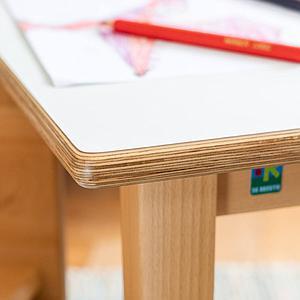 Table 60x90cm DETAIL De Breuyn blanc-naturel
